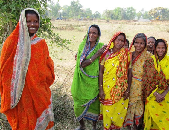 Landless women who will soon receive new plots of land