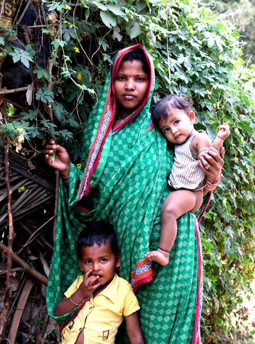 Reena, 22, lives with her terminally ill husband and two young children in a dilapidated hut. She is looking forward to the opportunity to grow food for her children on her own patch of land.
