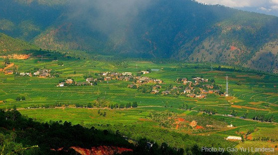 Rural farmland in Yunnan, China by Gao Yu