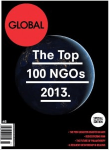 global journal cover 2013 Top 100 NGOs Landesa